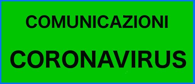 Link alla pagina Comunicazioni Coronavirus